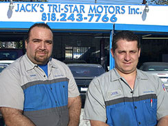mercedes benz mechanics at jacks tri-star motors