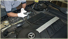 Mercedes Benz repairs on engine