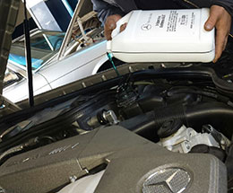 Mercedes antifreeze flush and refill